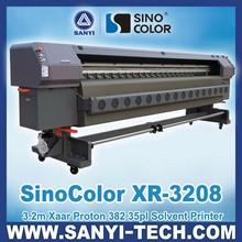 SinoColor XR-3208 Digital Banner Printer, with Xaar Proton 382 Heads