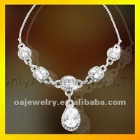 jewelry manufactory small order unique silver chain with cz for lady paypal acceptable