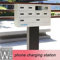 10 docks 2014 new design locker cell phone charging station kiosk