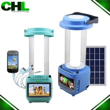 2015 Innovative CHL solar rechargeable lantern, solar lamps for home with TV