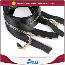 satin open end zipper