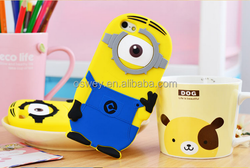 HOT Minions Despicable Me 2 Rubber Mobile Phone Case For iPhone 4 4S 5 5S 6 6Plus