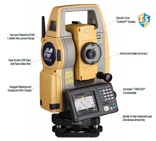 New Topcon robotic total station Topcon DS-102AC Robotic Total Station