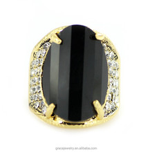 Fashion Zircon and Crystal Gold Ring