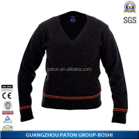 Computer Knitted Technics and Polyester / Cotton Material winter sweater