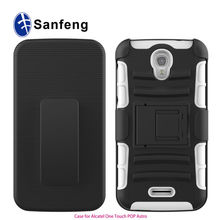 Manufacture Price Wholesale Mobile Phone Combo Holster Case Cover For Alcatel One Touch POP Astro Kickstand Case