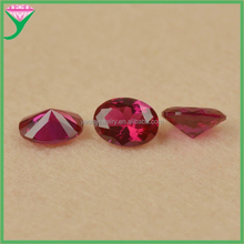 Perfect cutting 5# synthetic Oval corudum pigeon blood red ruby