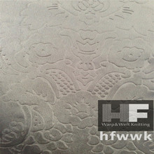 100% polyester Warp knitted Shining embossed velvet for home textile
