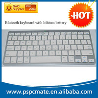Rechargeable Slim Mini Wireless Bluetooth Keyboard with lithium battery for iPad/iPhone/Galaxy Tab