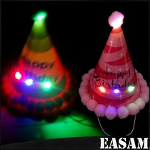 Birthday cake Hat headband,glowing conical birthday Hat