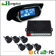 Hongston front rear sensors, led parking sensor system car reverse backup radar