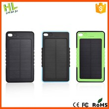 Waterproof solar power banks,solar power chargers 5000mah for mobilephone