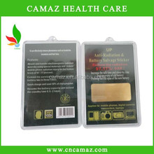OEM support 24k gold plating Anti radiation mobile phone patch/paster/sticker