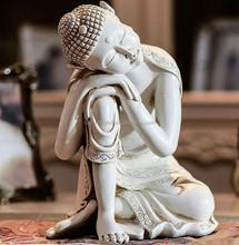 hand carved resin sleeping Buddha statue