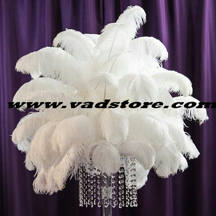 40pcsunit 12white Ostrich Feather Wedding Decoration Gatsby Table