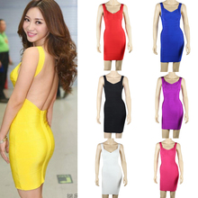 2014 Hot selling cheap high quality sexy women wholesale backless bandage dress for the party DM757