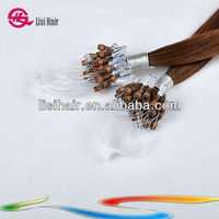 2014 Wholesale Remy Red Micro Beads Hair Extension