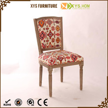 High Quality Living Room Antique Retro Brich And Rubber Chair Fabric