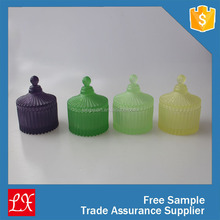Forsted glass color container for candle making