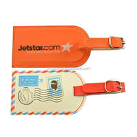 Famous brand leather luggage tag with customized logo