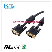 New style professional black male vga to male rca cable