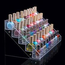 clear acrylic wall mounted nail polish display shelf