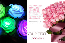 new Led Flashing Artificial Rose for Valentine's Day,Artificial Flashing Roses bulk in china