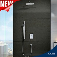 Wall mounted 2 function rainfall led shower sets