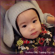 2015 Children's plush animal head knit hat wholesale