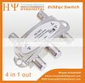 Caliente venta de 4 en 1 ds-04c 4x1 interruptor de diseqc satélites fta tv lnb interruptor para el receptor de satélite s4211