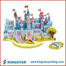 3D childrens paper games puzzle