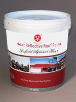 Heat reflective roof coating with thermal protection