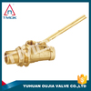 1/2 inch brass body double union nipple forged cw617n NPT threaded connection brass float ball valve