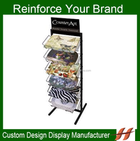 Metal wire table mat display rack