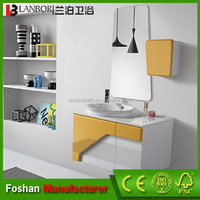 32 inch bathroom cabinet wall mounted lacquered with bath mirror FS1304