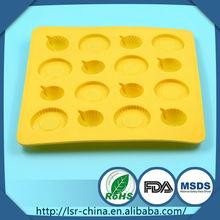 Taza diáfano molde de la torta, molde de la torta en forma de anillo, molde de la torta de