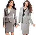 nuevo diseño de poliéster señoras uniforme de oficina