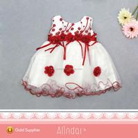 Sleeveless Round Neck 2014 New Fashion Design Small Girls Dress For Baby Dress