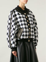 Women check bomber jacket, clothing suppliers for boutiques, american one clothing (TW0123J)