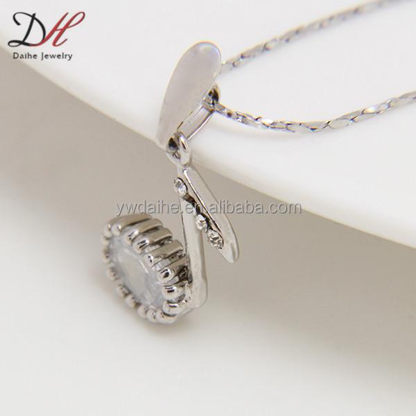 Daihe NC3018 música jóias, colar de zircão, colar nota da música
