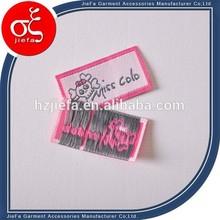 Fornecimento marca nome tecido100%poliéster etiquetas tecidas/etiquetasderoupas e etiquetas para roupas