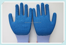 high quality natural latex coated safety working gloves from china