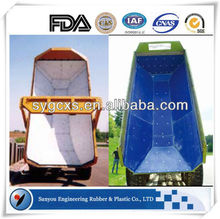 2015 slide uhmwpe dump truck bed liner/virgin pe plastic extruded liner/super slippery liner
