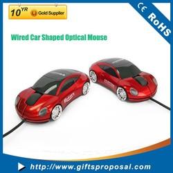 Red color usb optical Car shape mouse