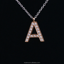 IN91215 New Design Alphabet Style Charm Pendant Initial Jewelry Stainless Steel Letter Necklace
