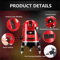 High Standard Waterproof Professional Automatic Laser Level Measure XD 5 Line 6 Point 4V1H 360 Rotating For Outdoor Detectors