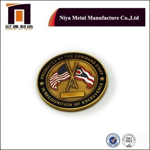 Low price American flag copper souvenir coin with brown color for promotion