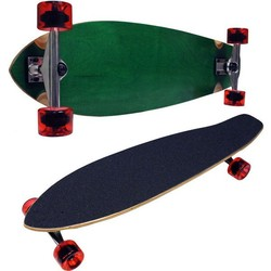 GREEN LONGBOARD COMPLETE KICK TAIL CRUISER - 70mm Wheels
