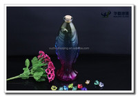 Fancy colorful glass art fish with lid wholesale