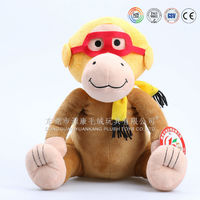 singing and dancing funny soft plush monkey toys and dolls